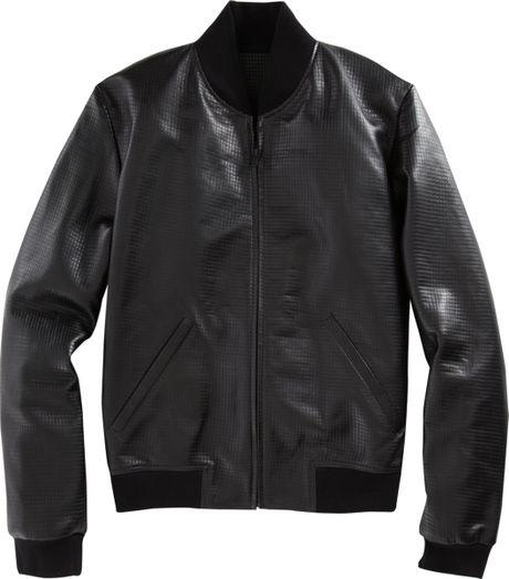 Black Leather Baseball Jacket