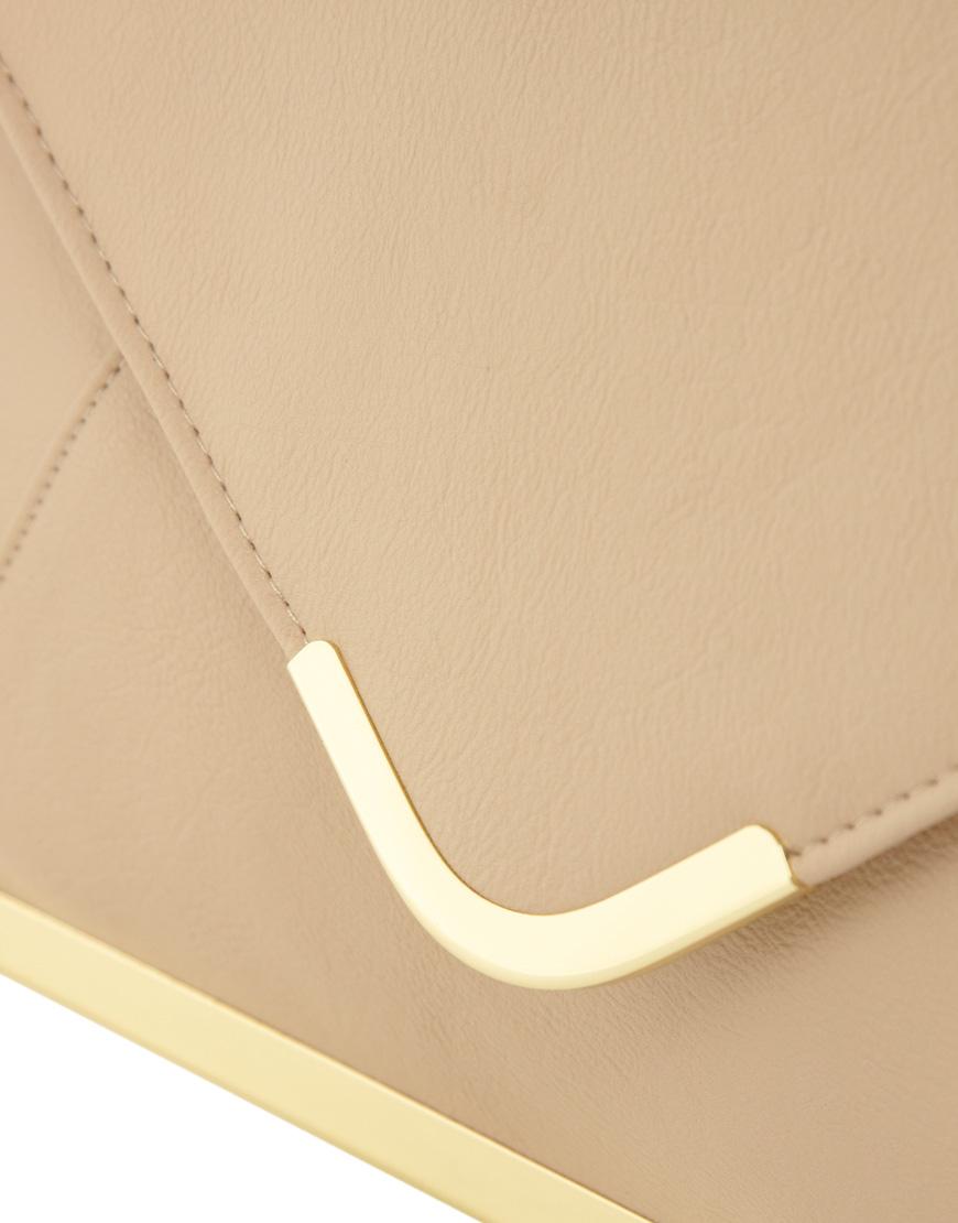 Asos Metal Frame Clutch Bag In Natural  Lyst-6228