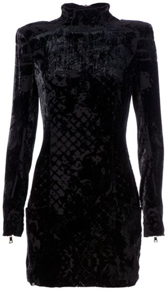 Balmain Shoulder Pad Dress - Lyst