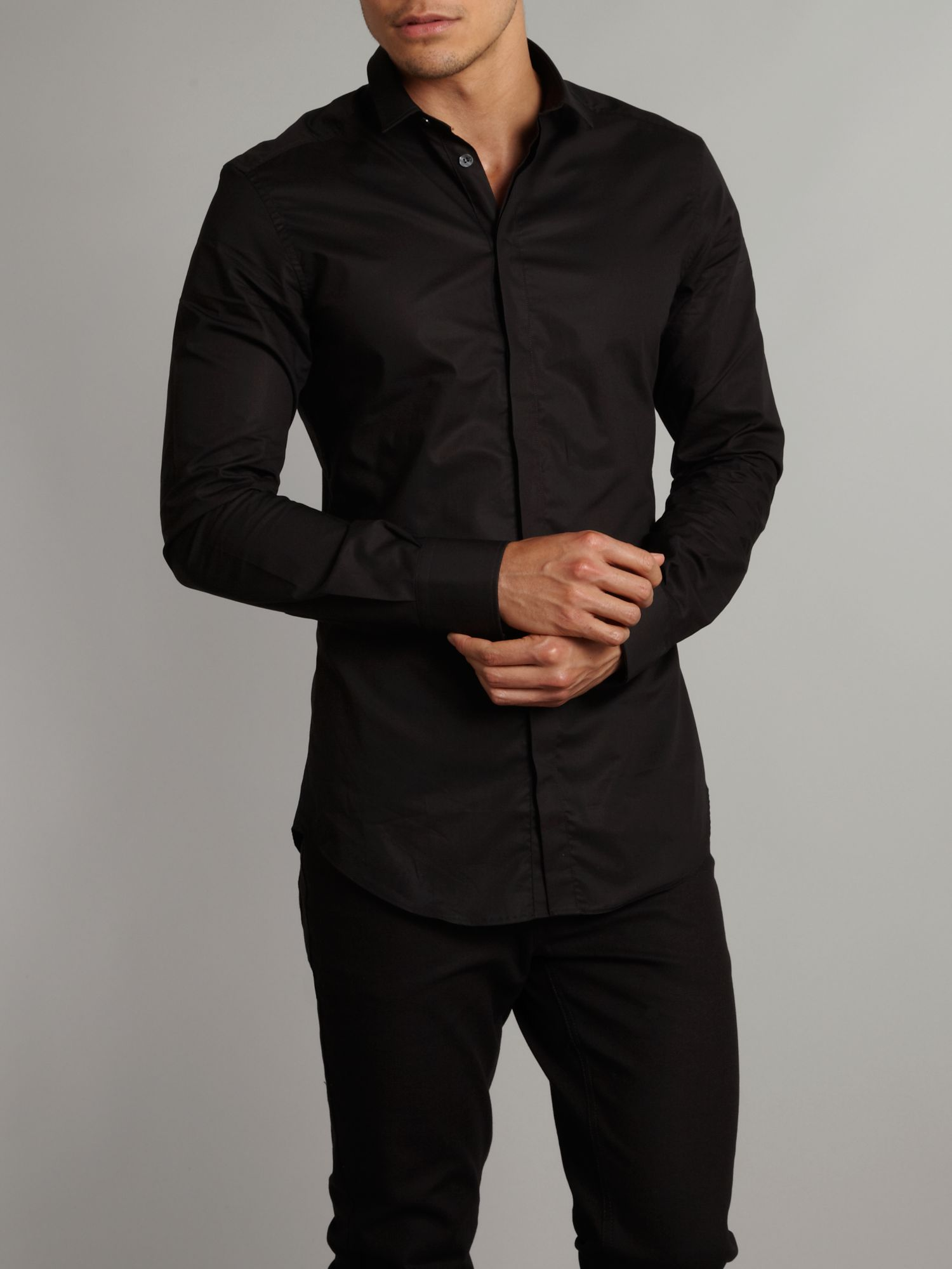 Dolce Gabbana Button Up Shirt In Black For Men Lyst