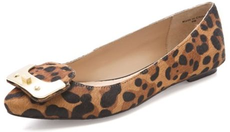 Diane Von Furstenberg Madison Haircalf Flats in Beige (tan)