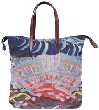 Dries Van Noten Printed Bag - Lyst