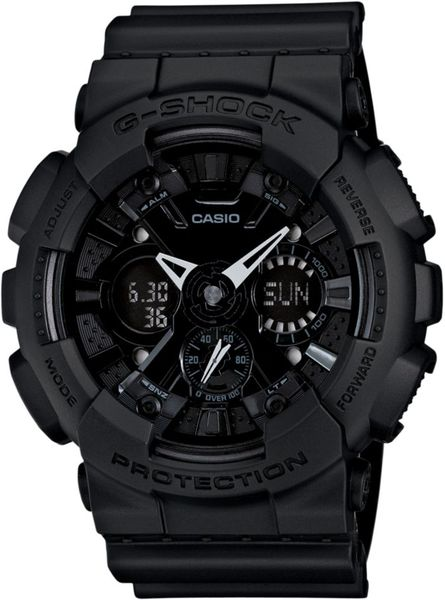 G-shock Analog Digital Blackout Black Resin Strap Watch  in Black for Men - Lyst