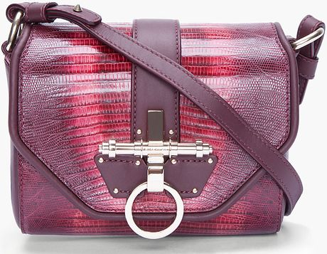 Givenchy Handpainted Lizard Skin Tejis Bag in Purple (burgundy) - Lyst