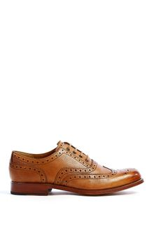 Grenson Tan Grain Leather William Brogues - Lyst