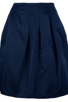 Jil Sander Navy Pleated Skirt - Lyst