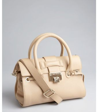Jimmy Choo Nude Leather Rosalie Convertible Satchel - Lyst