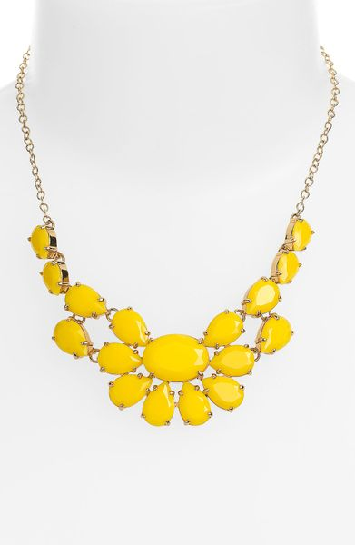Kate Spade Plaza Athénée Necklace in Yellow (yellow/ gold) - Lyst