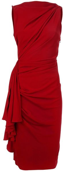 Lanvin Sleeveless Dress - Lyst