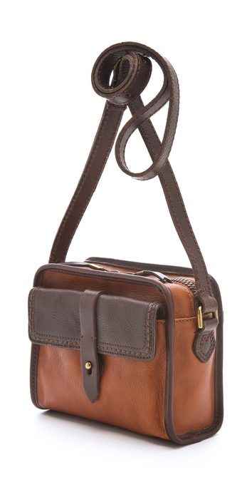 1d1468c20445 Lyst - Madewell Heritage Leather Camera Bag in Brown