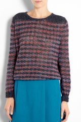 Marc By Marc Jacobs Twinkle Stripe Lurex Jaquard Sweater - Lyst