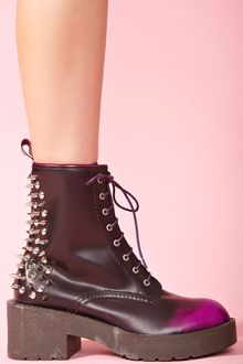 Nasty Gal 8th Street Spike Boot Purple Fade - Lyst