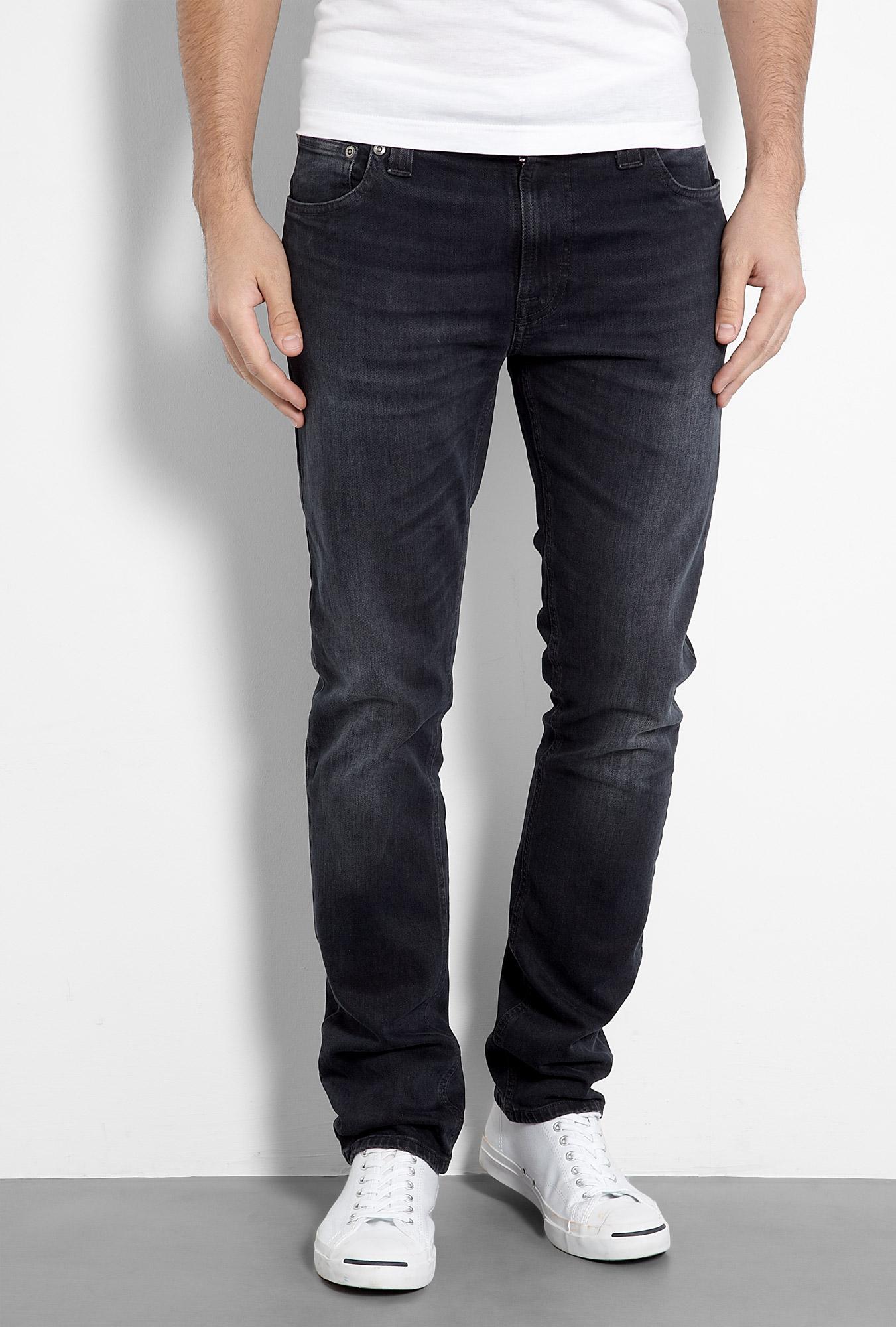 nudie jeans thin finn organic black grey wash skinny jeans. Black Bedroom Furniture Sets. Home Design Ideas