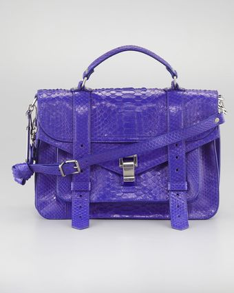 Proenza Schouler Ps1 Python Shoulder Bag Medium - Lyst