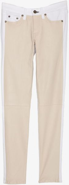 Rag & Bone Exclusive Hyde Leather Panel Front Cream White in Beige (nude) - Lyst