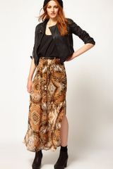 River Island Animal Drape Maxi Skirt - Lyst
