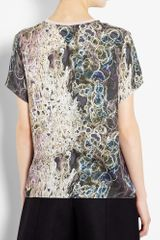 Theyskens' Theory Ispah Printed Tshirt in Gray - Lyst