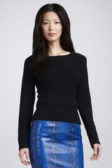 Tibi Hanne Ribbed Sweater - Lyst