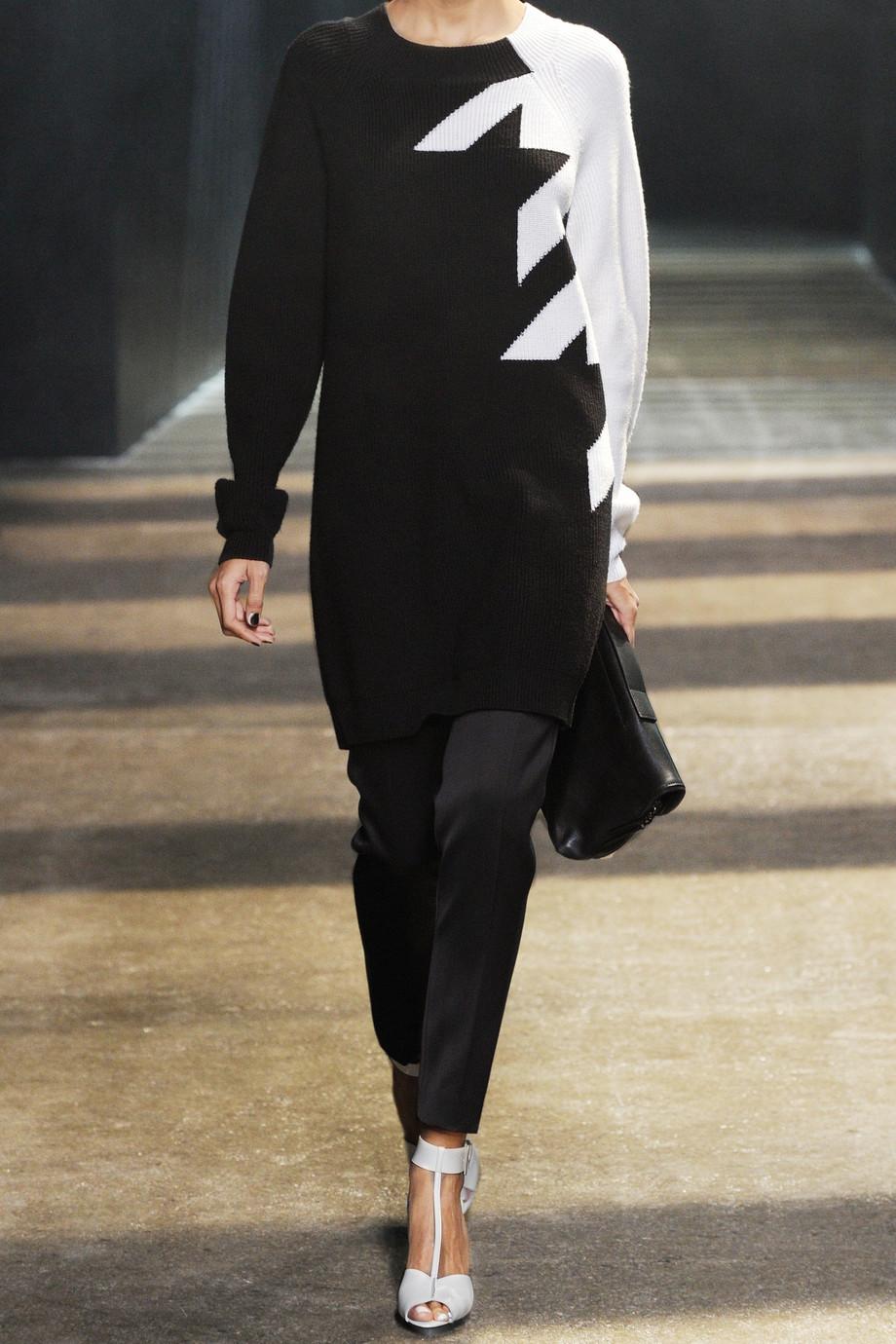 Lyst 3 1 Phillip Lim Hound Stooth Wool Sweater Dress In