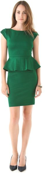 Alice + Olivia Victoria Peplum Dress - Lyst