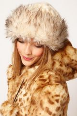 Asos Faux Fur and Knit Cossack Hat