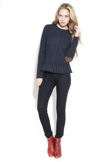 Autumn Cashmere Cable Button Back Sweater - Lyst