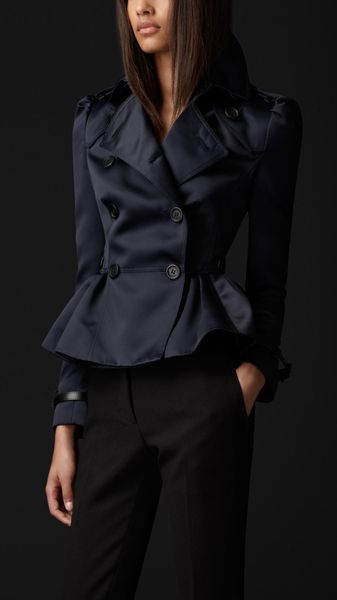 Burberry Prorsum Tailored Peplum Jacket - Lyst