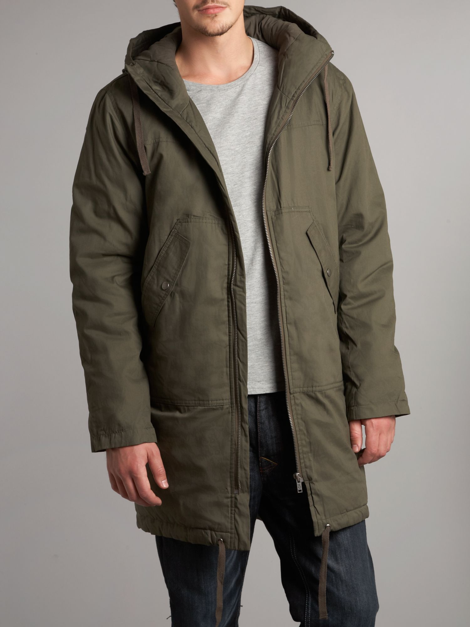 Cheap monday Parka Jacket in Green for Men | Lyst