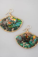 Devon Leigh Rainbow Agate Fan Earrings - Lyst