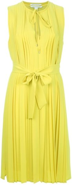 Diane Von Furstenberg Missy Dress in Yellow - Lyst