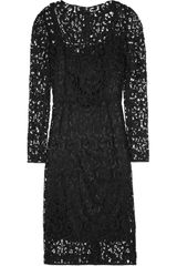 Dolce & Gabbana Wool Blend Lace Dress - Lyst