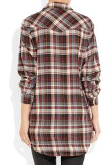 Etoile Isabel Marant Madoc Oversized Cotton Plaid Shirt in Multicolor (multicolored) - Lyst