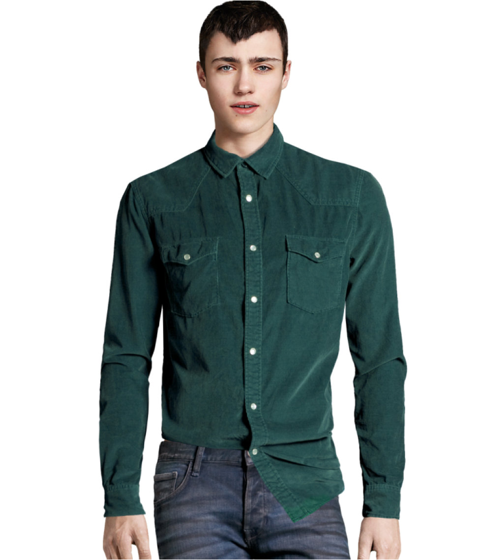 Lyst H Amp M Corduroy Shirt In Green For Men