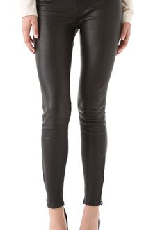 J Brand Super Skinny Leather Pants - Lyst