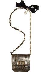 Lanvin Python Happy Mini Pop Bag in Gray (grey) - Lyst