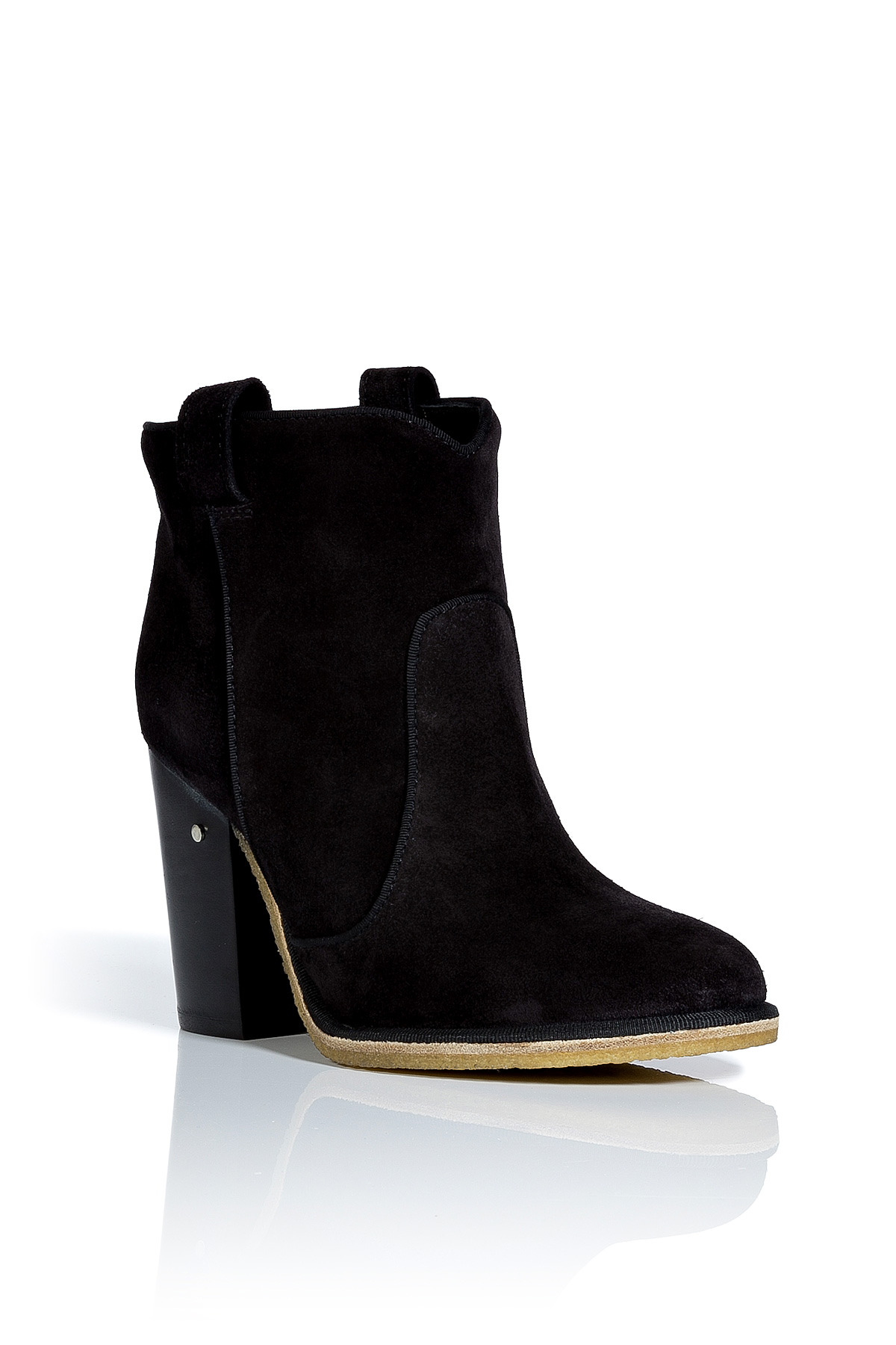 Laurence Dacade Black Suede Ankle Boots In Black Lyst