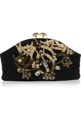 Marni Jewel and Horn Embellished Clutch in Black - Lyst