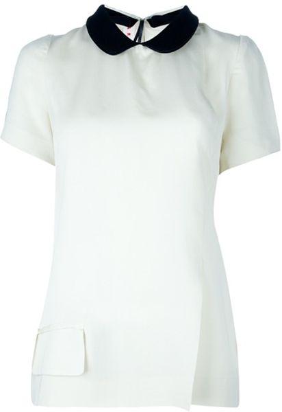 Womens Peter Pan Collar Blouse White 24
