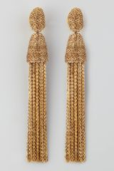 Oscar de la Renta Chain Tassel Earrings  - Lyst