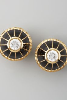 Rachel Zoe Pave Clip Earrings - Lyst