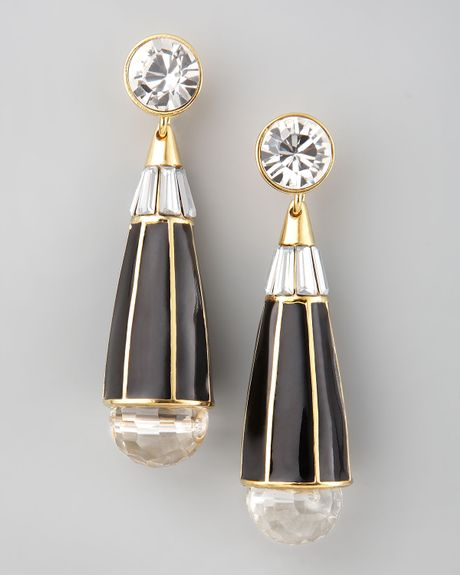 Rachel Zoe Teardrop Earrings  in Black - Lyst