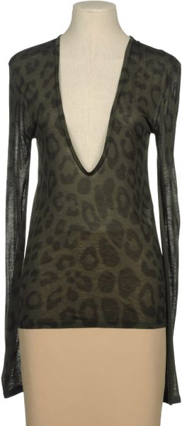 Stella Mccartney Long Sleeve Tshirt in Green - Lyst