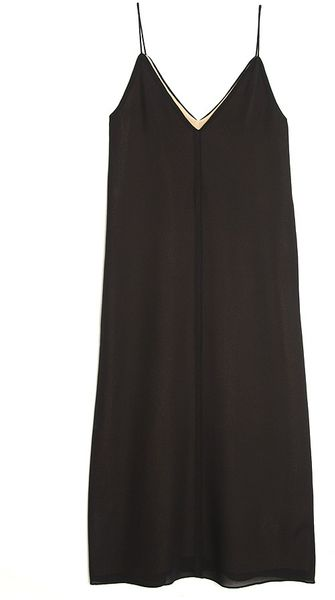 T By Alexander Wang V-neck Slip Dress - Lyst