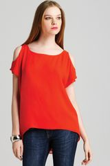 Alice + Olivia Top Exclusive Open Shoulder - Lyst