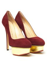 Charlotte Olympia Dolly Pump in Brown (gold) - Lyst
