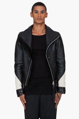 Denis Gagnon  Leather and Wool Jacket - Lyst