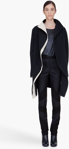 Denis Gagnon Reversible Wool Coat - Lyst