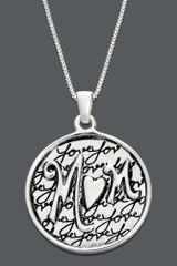 Eci Mom I Love You Circle Pendant - Lyst