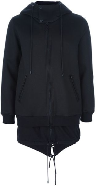 Givenchy Layered Hooded Top in Black for Men - Lyst