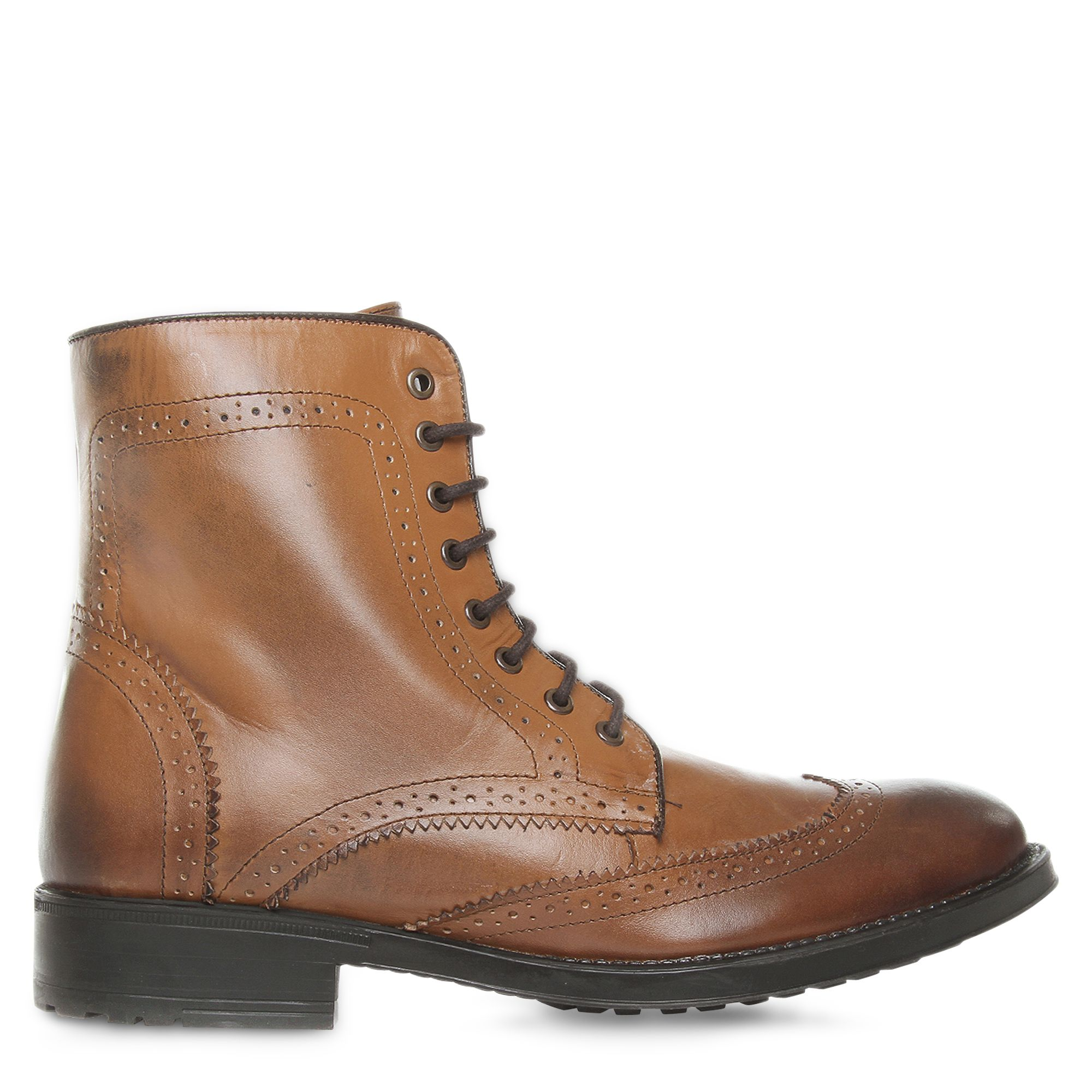kg kurt geiger alvin brogue ankle boots in brown for